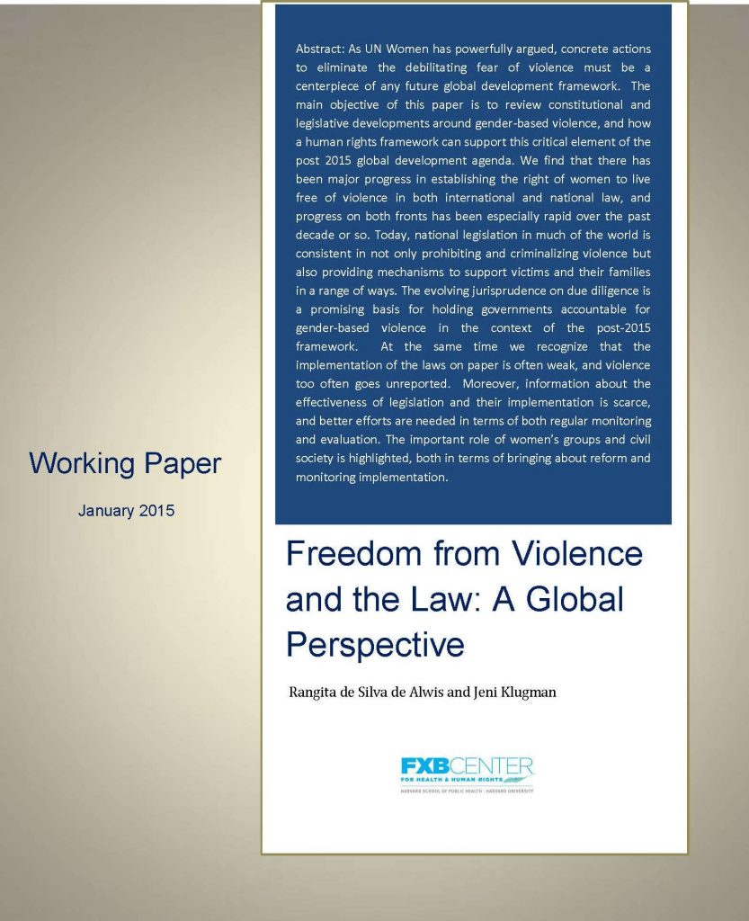 Freedom from Violence and the Law-coverpage