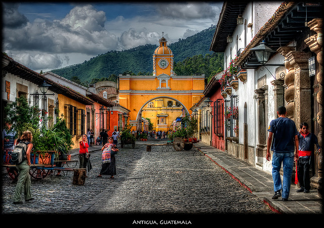 Cobblestone street in Antigua, Guatemala (photo credit Pedro Szekely)