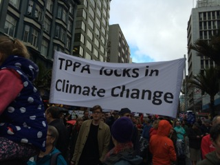 TPPA protests in Auckland, New Zealand (photo courtesy of Rhys Jones)