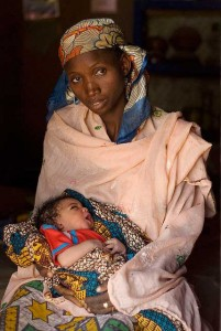 Nigerian mother and baby