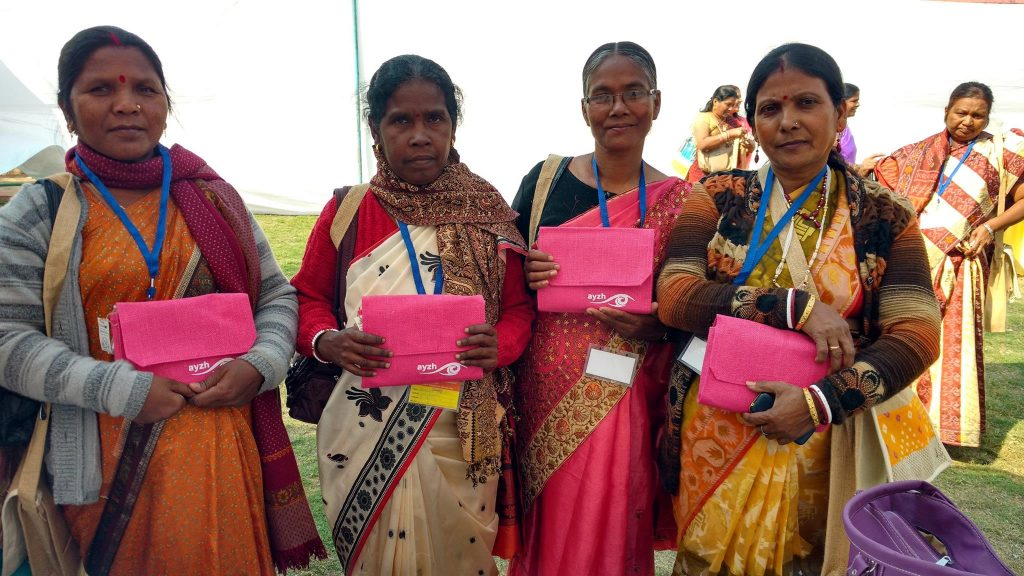 Women with clean birth kit