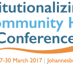 Advancing Maternal #HealthForAll at the 2017 Institutionalizing Community Health Conference