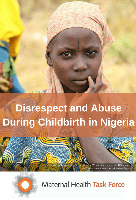 disrespect and abuse during childbirth in Nigeria