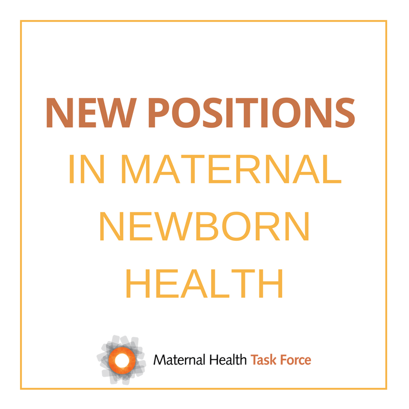 New positions in maternal health