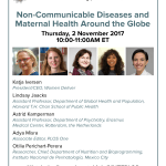 "Event on 2 November | Launch of MHTF-PLOS Collection, ""Non-Communicable Diseases and Maternal Health Around the Globe"""