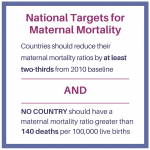 National Targets for Maternal Mortality